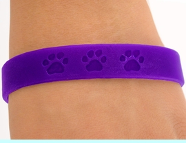 <bR>        EXCLUSIVELY OURS!!<Br>W4567JPB - ROYAL PURPLE<BR> SCHOOL SPIRIT PAW JELLY<br>  BRACELETS&#169;2004 FROM<Br>               $.97 TO $5.00