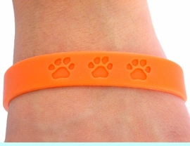 <bR>           EXCLUSIVELY OURS!!<Br>W4571JPB - VIBRANT ORANGE<BR>    SCHOOL SPIRIT PAW JELLY<br>     BRACELETS&#169;2004 FROM<Br>                  $.97 TO $5.00