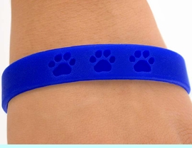 <bR>      EXCLUSIVELY OURS!!<Br>W4572JPB - BRIGHT BLUE<BR>SCHOOL SPIRIT PAW JELLY<br> BRACELETS&#169;2004 FROM<Br>              $.97 TO $5.00