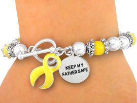 "<br>               ""EXCLUSIVELY OURS""<BR>W5020B - ""KEEP MY FATHER SAFE""<Br>CHARM & YELLOW RIBBON & CAT'S<bR>       EYE ""SUPPORT OUR TROOPS""<br>       STRETCH/TOGGLE BRACELET<BR>               FROM $2.25 TO $5.00"