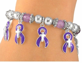 <br>             EXCLUSIVELY OURS!!<br>  W5190B - PURPLE AWARENESS<Br>     RIBBON & CHRISTIAN CROSS<bR>STRETCH BRACELET©2005 FROM<bR>                   $2.81 TO $6.25