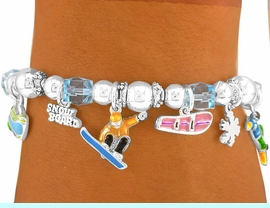 <bR>       EXCLUSIVELY OURS!!!<bR>W5968B - SNOWBOARDING<Br>STRETCH CHARM BRACELET<Br>      FROM $3.60 TO $8.00