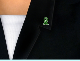 <BR>                 EXCLUSIVELY OURS!!!<bR>      W9116P - SILVER FINISH TRIM<bR>FOREST GREEN AWARENESS RIBBON<Br>           TACK PIN AS LOW AS $.85