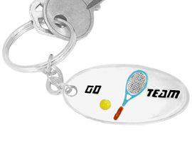 """<BR>                      EXCLUSIVELY OURS!!!<bR>      W9289KC - """"GO TEAM"""" 3-D TENNIS<br>SILVER TONE KEY CHAIN AS LOW AS $1.99<br>   EXCLUSIVELY OURS! WE ARE THE ONLY<Br>                          MANUFACTURER!"""