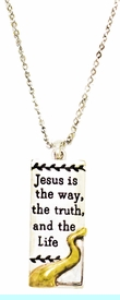 <BR>  Jesus Is The Way, The Truth, And The Life, Pendent Necklace, <BR>Hypoallergenic, Safe- No Nickel, Lead, Or Poisonous Cadmium.<BR>                                           From $ 9.78 To $12.38 <BR>                                                       W29437N12