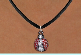 <BR>                LADY BUG NECKLACE<bR>                   EXCLUSIVELY OURS!! <Br>              AN ALLAN ROBIN DESIGN!! <BR>     CLICK HERE TO SEE 1000+ EXCITING <BR>           CHANGES THAT YOU CAN MAKE! <BR>        LEAD, NICKEL & CADMIUM FREE!! <BR> W1441SN - SILVER TONE WITH RED AND JET<BR> CRYSTAL LADYBUG CHARM AND NECKLACE <BR>            FROM $5.40 TO $9.85 �2013
