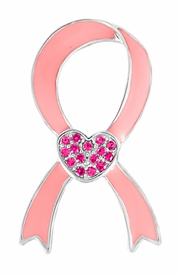 <BR>                 LEAD, CADMIUM, AND NICKEL FREE! <BR>                   ALLAN ROBIN DESIGN<BR>        W17407P -  PINK RIBBON TACK PIN <BR>            WITH PINK AUSTRIAN CRYSTALS <BR>         �2006   $3.88 EACH