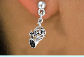 <BR>             LEAD AND NICKEL FREE!  <BR>              ASSEMBLED IN THE USA<BR>  CLICK HERE TO SEE 500+ EXCITING<BR>   CHANGES THAT YOU CAN MAKE!<BR>            W812SE - FRENCH HORN <Br>       EARRING FROM $4.50 TO $8.35