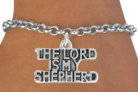 <BR>                   LEAD AND NICKEL FREE!  <BR>                   ASSEMBLED IN THE USA<BR>         CLICK HERE TO SEE 500+ EXCITING<BR>             CHANGES THAT YOU CAN MAKE!<BR>   W814SB - THE LORD IS MY SHEPERD CHARM <Br>           & BRACELET FROM $4.50 TO $8.35