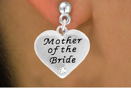 "<BR>                LEAD AND NICKEL FREE!  <BR>    MADE AND ASSEMBLED IN THE USA<BR>                    ALLAN ROBIN DESIGN<BR>      CLICK HERE TO SEE 500+ EXCITING<BR>       CHANGES THAT YOU CAN MAKE!<BR>        W807SE - ""MOTHER OF THE BRIDE""<BR> HEART & EARRING FROM $4.50 TO $8.35"