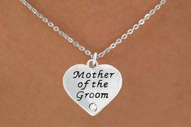 "<BR>                LEAD AND NICKEL FREE!  <BR>    MADE AND ASSEMBLED IN THE USA<BR>                    ALLAN ROBIN DESIGN<BR>      CLICK HERE TO SEE 500+ EXCITING<BR>       CHANGES THAT YOU CAN MAKE!<BR>        W808SN - ""MOTHER OF THE GROOM""<BR> HEART & NECKLACE FROM $4.50 TO $8.35"