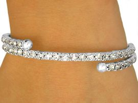 <BR>              LEAD AND NICKEL FREE!!<BR> W10256B - POLISHED SILVER TONE<br>   GENUINE AUSTRIAN CRYSTAL COIL<br>    BRACELET FROM $5.63 TO $12.50