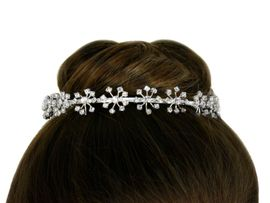 <BR>                     LEAD AND NICKEL FREE <bR> W10447T - GENUINE AUSTRIAN CRYSTAL<Br>FLOWER BURST CROWN FROM $10.13 TO $22.50