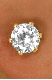 <BR>               LEAD AND NICKEL FREE!!<BR>W11620E - GENUINE CUBIC ZIRCONIA<br>    HYPOALLERGENIC TITANIUM POST<bR>      EARRINGS FROM $2.25 TO $5.00