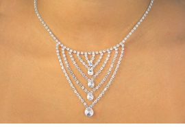 "<BR>                 LEAD AND NICKEL FREE!!<BR>W11624N - GENUINE AUSTRIAN CRYSTAL<br>       MULTI ""V"" DROP NECKLACE FROM<Br>                          $20.31 TO $37.50"