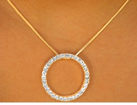 "<BR>                LEAD AND NICKEL FREE!!<br>       W6983NE - AS SEEN ON OPRAH!<BR>       GOLD TONE DESIGNER INSPIRED<bR>AUSTRIAN CRYSTAL ""CIRCLE OF LOVE""<BR>             NECKLACE & EARRING SET<Br>               FROM $11.38 TO $21.00"