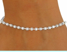 <BR>           LEAD AND NICKEL FREE!!<BR>W8564B - POLISHED SILVER TONE<br>    TRIM 3MM AUSTRIAN CRYSTAL<Br>    LATCH-CLASP BRACELET FROM<bR>                      $2.25 TO $5.00