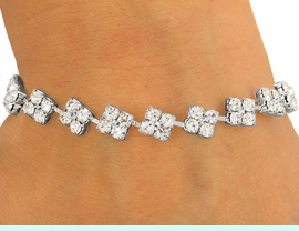 <BR>               LEAD AND NICKEL FREE!!<BR>       W8570B - STUNNING AUSTRIAN<Br>CRYSTAL SQUARE-LINK LATCH-CLASP<Br>       BRACELET FROM $4.16 TO $9.25