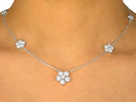 <BR>                    LEAD AND NICKEL FREE!!<BR> W9637NE - STUNNING AUSTRIAN CRYSTAL<br>     FLOWER NECKLACE & TITANIUM POST<BR>     EARRING SET FROM $26.00 TO $48.00