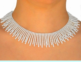 <BR>                  LEAD AND NICKEL FREE <BR>  W9675NE-SPECTACULAR AUSTRIAN <BR> CRYSTAL STRAND CHOKER & EARRING<BR>          YOUR LOW PRICE IS $125.00