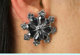 <Br>            LEAD NICKEL AND CADMIUM FREE!!<Br>      W18961EA - SNOWFLAKE FACETED STONE<Br> EARRING ASSORTMENT FROM $6.75 TO $15.00