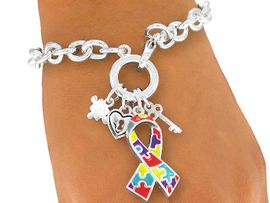 <bR>            LEAD, NICKEL, & CADMIUM FREE!!<br>               W3969B - AUTISM AWARENESS<bR>               BRACELET FROM $3.94 TO $8.75<BR>                                     &#169;2004