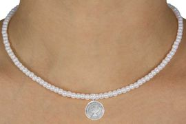 """<Br>                 LEAD & NICKEL FREE!!<Br>                  EXCLUSIVELY OURS!!<Br>            AN ALLAN ROBIN DESIGN!!<br>    W14702N - CHILDREN'S 13"""" FAUX<br>PEARL """"1ST COMMUNION"""" NECKLACE<Br>               FROM $6.19 TO $13.75"""