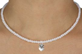 "<Br>              LEAD & NICKEL FREE!!<Br>               EXCLUSIVELY OURS!!<Br>         AN ALLAN ROBIN DESIGN!!<br>  W14712N - CHILDREN'S 13"" FAUX<br>PEARL ANGEL ON HEART NECKLACE<Br>               FROM $6.19 TO $13.75"