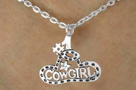 "<BR>                 LEAD & NICKEL FREE!!<BR>                  EXCLUSIVELY OURS!!<BR>            AN ALLAN ROBIN DESIGN!!<Br>W14713NE - ""#1 COWGIRL"" GENUINE<Br>     AUSTRIAN CRYSTAL NECKLACE &<Br>  EARRING SET FROM $7.31 TO $16.25"