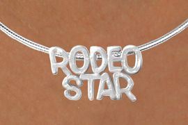 "<Br>                   LEAD & NICKEL FREE!!<Br>                    EXCLUSIVELY OURS!!<Br>              AN ALLAN ROBIN DESIGN!!<Br>   W16152N - LARGE ""RODEO STAR"" &<br>SILVER TONE CABLE COLLAR NECKLACE<Br>                  FROM $5.06 TO $11.25<BR>                                    &#169;2010"