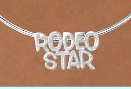 """<Br>                   LEAD & NICKEL FREE!!<Br>                    EXCLUSIVELY OURS!!<Br>              AN ALLAN ROBIN DESIGN!!<Br>   W16152N - LARGE """"RODEO STAR"""" &<br>SILVER TONE CABLE COLLAR NECKLACE<Br>                  FROM $5.06 TO $11.25<BR>                                    &#169;2010"""