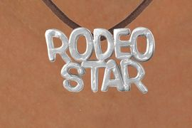 "<Br>            LEAD & NICKEL FREE!!<Br>             EXCLUSIVELY OURS!!<Br>       AN ALLAN ROBIN DESIGN!!<Br>W16155N - LARGE ""RODEO STAR""<Br> BROWN SUEDE NECKLACE FROM<Br>                    $3.38 TO $7.50<BR>                              &#169;2010"
