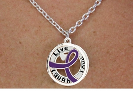 "<BR>                       LEAD & NICKEL FREE!!<Br>                        EXCLUSIVELY OURS!!<Br>                      AN ALLAN ROBIN DESIGN!!<bR>              W18659NE - PURPLE AWARENESS <BR>            RIBBON LAYERED ""LIVE LAUGH <BR>                   LOVE"" NECKLACE & EARRING <Br>             SET FROM $6.75 TO $15.00 &#169;2011"