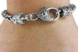 <bR>            LEAD, CADMIUM & NICKEL FREE!!<BR>                 W19203B1 - HEART SHAPED <BR>                LOBSTER CLASP  SILVER TONE <BR>WHEAT CHAIN BRACELET�2014,  $6.68 Each<BR>B1