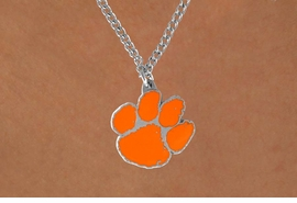 <Br>               LEAD & NICKEL FREE!!<Br>     OFFICIAL COLLEGE LICENSED!!!<Br>  W15180N - CLEMSON UNIVERSITY<Br>TIGERS NECKLACE AS LOW AS $4.20