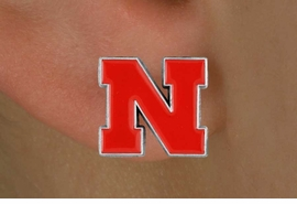 <Br>                 LEAD & NICKEL FREE!!<Br>       OFFICIAL COLLEGE LICENSED!!!<bR>W15772E - UNIVERSITY OF NEBRASKA<Br>     CORNHUSKERS POST EARRINGS<BR>               FROM $4.50 TO $10.00