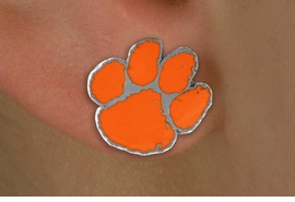"""<Br>             LEAD & NICKEL FREE!!<Br>   OFFICIAL COLLEGE LICENSED!!!<bR>W15802E - CLEMSON UNIVERSITY<Br>        """"TIGERS"""" POST EARRINGS<BR>            FROM $4.50 TO $10.00"""
