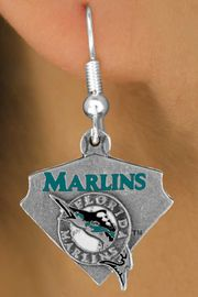 <bR>               LEAD & NICKEL FREE!!<Br>             OFFICIALLY LICENSED!!<Br>MAJOR LEAGUE BASEBALL LOGOS!!<Br>     W14829E - FLORIDA MARLINS<Br>  LOGO EARRINGS AS LOW AS $3.99