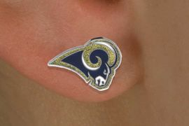 <bR>              LEAD & NICKEL FREE!!<Br>            OFFICIALLY LICENSED!!<Br>    NATIONAL FOOTBALL LEAGUE!!<Br>        W14874E - ST LOUIS RAMS<Br>LOGO EARRINGS AS LOW AS $1.99