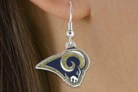 <bR>            LEAD & NICKEL FREE!!<Br>           OFFICIALLY LICENSED!!<Br>   NATIONAL FOOTBALL LEAGUE!!<Br>       W14875E - ST. LOUIS RAMS<Br>LOGO EARRINGS AS LOW AS $2.99