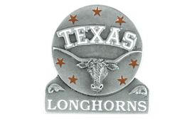 <br>             LEAD & NICKEL FREE!!<Br>            OFFICIALLY LICENSED!!<Br>W14925P - UNIVERSITY OF TEXAS<Br>LONGHORNS PIN AS LOW AS $3.65