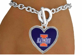 <Br>               LEAD & NICKEL FREE!!<Br>             OFFICIALLY LICENSED!!<bR>W15003B - UNIVERSITY OF ILLINOIS<Br>         BRACELET AS LOW AS $3.65