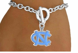 <Br>                  LEAD & NICKEL FREE!!<Br>                OFFICIALLY LICENSED!!<bR>    W15030B - UNIVERSITY OF NORTH<Br>CAROLINA BRACELET AS LOW AS $3.65