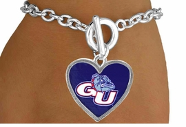<Br>                   LEAD & NICKEL FREE!!<Br>                 OFFICIALLY LICENSED!!<bR>     W15058B - GONZAGA UNIVERSITY<Br>BULLDOGS BRACELET AS LOW AS $3.65