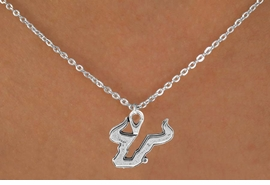 "<Br>               LEAD & NICKEL FREE!!<Br>             OFFICIALLY LICENSED!!<bR>  W15072N - UNIVERSITY OF SOUTH<Br>FLORIDA ""BULLS""  LOGO NECKLACE<br>                    AS LOW AS $2.63"