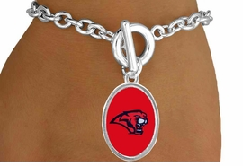 <Br>                  LEAD & NICKEL FREE!!<Br>                OFFICIALLY LICENSED!!<bR>W15109B - UNIVERSITY OF HOUSTON<Br>COUGARS BRACELET AS LOW AS $3.65