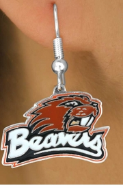 <Br>                   LEAD & NICKEL FREE!!<Br>                OFFICIALLY LICENSED!!!<bR>W15151E - OREGON STATE UNIVERSITY<Br> BEAVERS EARRINGS FROM $4.73 TO $11.25