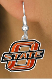 <Br>                      LEAD & NICKEL FREE!!<Br>                   OFFICIALLY LICENSED!!!<bR>W15159E - OKLAHOMA STATE UNIVERSITY<Br>   COWBOYS EARRINGS FROM $4.73 TO $11.25
