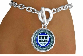 <Br>           LEAD & NICKEL FREE!!<Br>         OFFICIALLY LICENSED!!<bR>   W15227B - BRIGHAM YOUNG<Br>UNIVERSITY VIKINGS BRACELET<bR>                FROM $3.94 TO $8.75