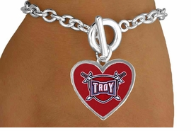 <Br>         LEAD & NICKEL FREE!!<Br>       OFFICIALLY LICENSED!!<bR>W15266B - TROY UNIVERSITY<Br>    TROJANS BRACELET FROM<bR>                $1.99